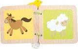 Babyboek van hout boerderij_