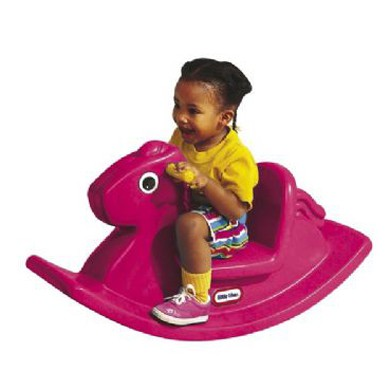 Roze hobbelpaard little tikes hobbel paard