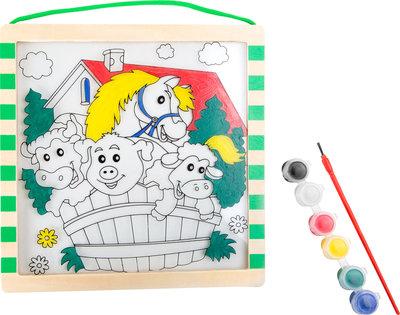 Kleurplaat Boerderij Hout