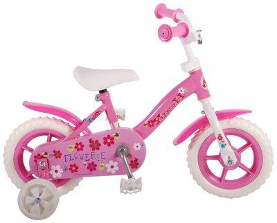 Yipeeh Flowerie Roze 10 inch meisjesfiets